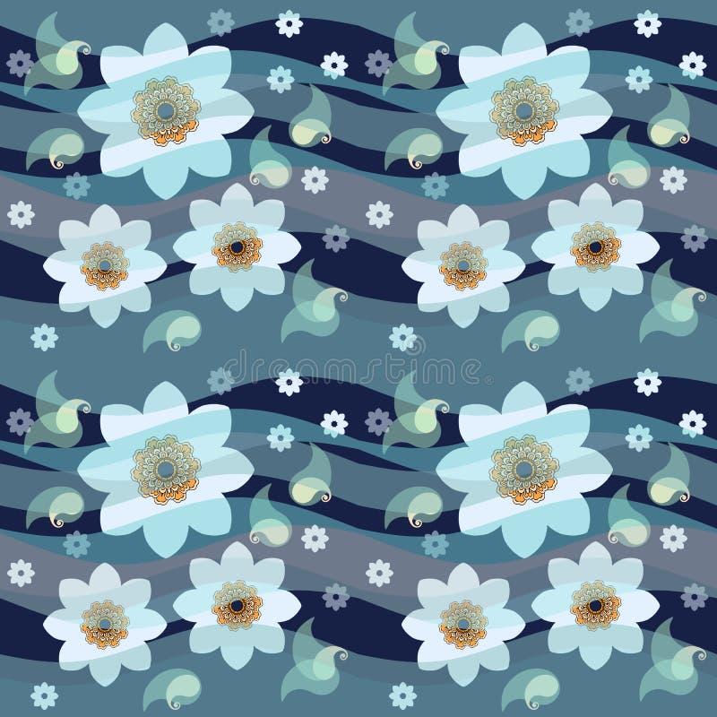 Цветочный узор daffodils Narcissus безшовный Весеннее время вектор иллюстрация штока
