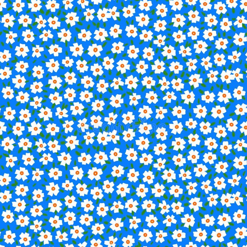 Цветочный узор Ditsy с цветками незабудки иллюстрация штока