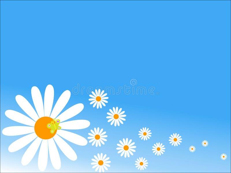цветы предпосылки иллюстрация вектора