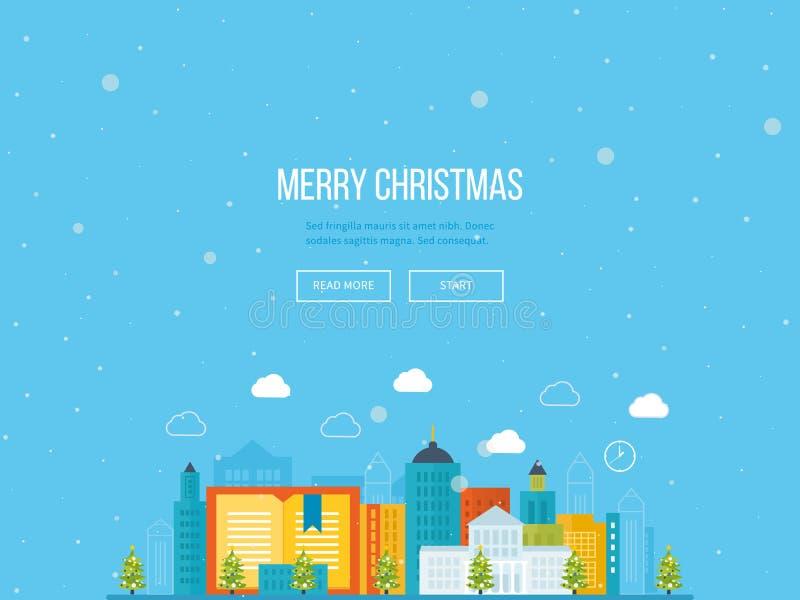 цветы рождества карточки конструируют editable приветствие веселое Урбанско бесплатная иллюстрация
