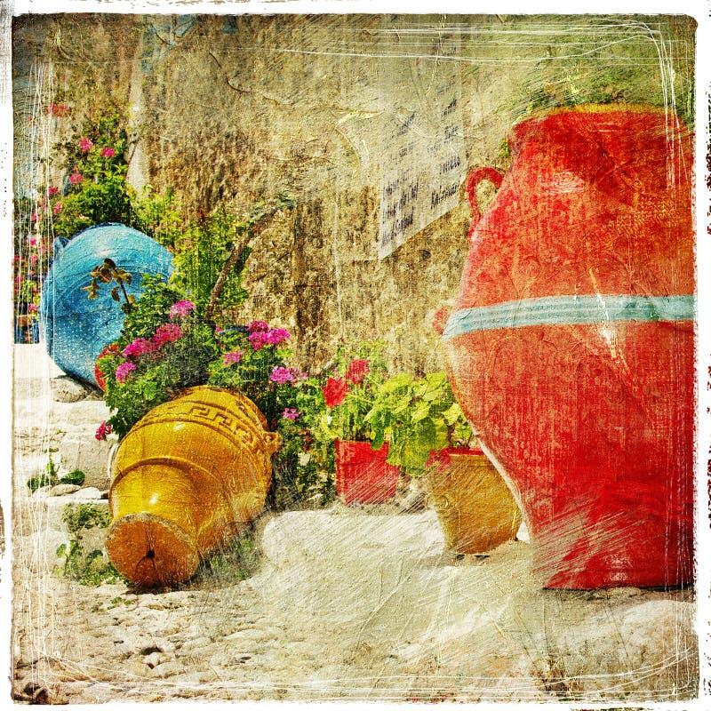 Цветы серий Греции иллюстрация вектора