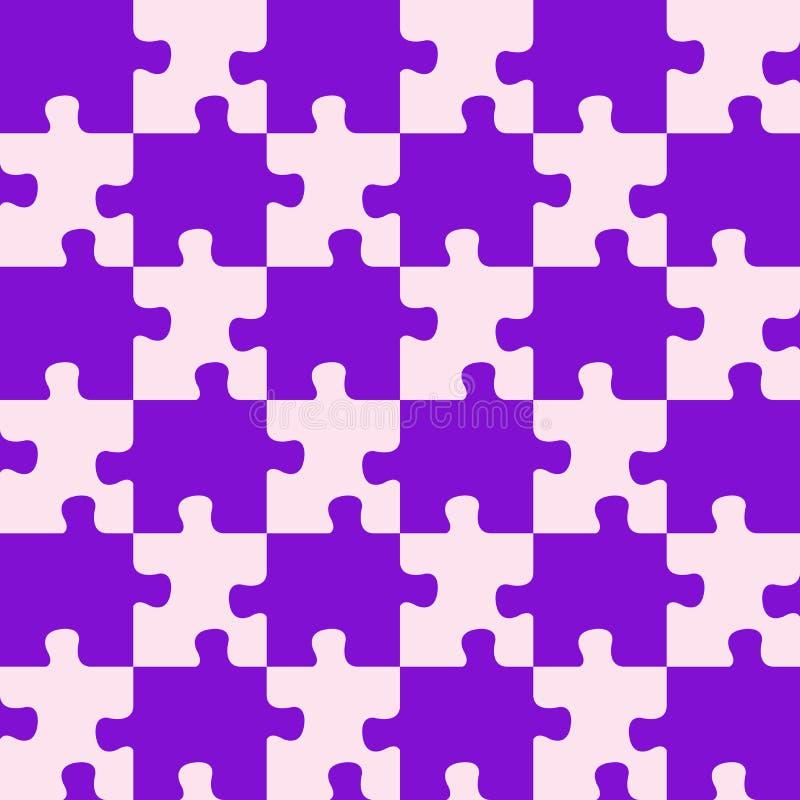 цветы смешали пурпуровую головоломку иллюстрация штока