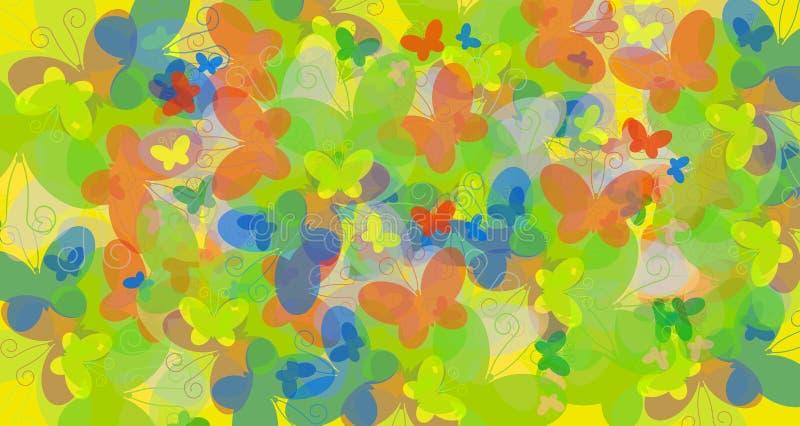 цвет бабочек иллюстрация вектора