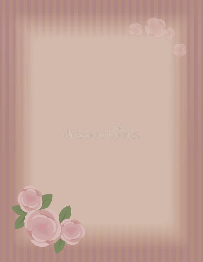 Цвет Бордо striped открытка страницы старого ретро вектора вертикальная с пустой светлой прямоугольной зоной надписи, большим com иллюстрация вектора