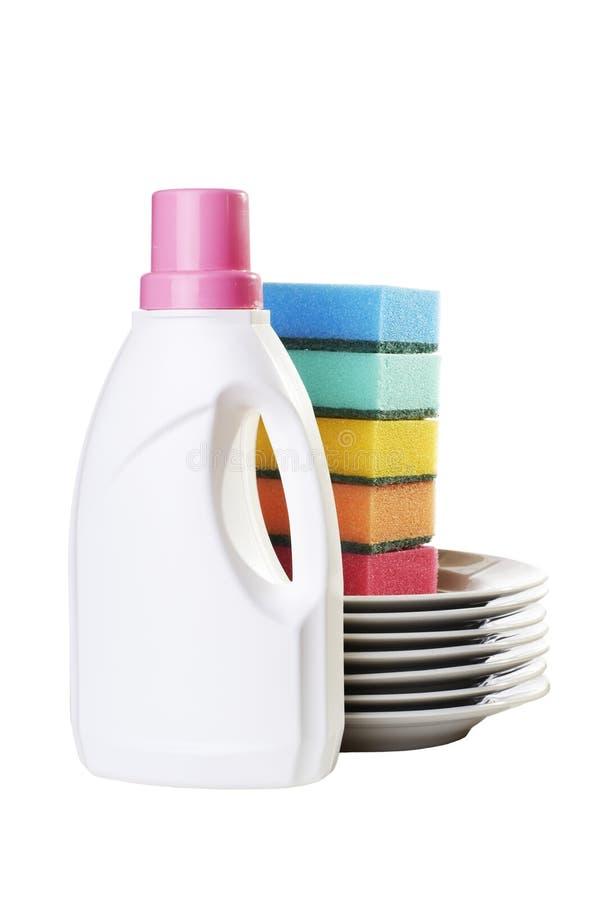 цвет бутылки dishes губки стоковые фотографии rf