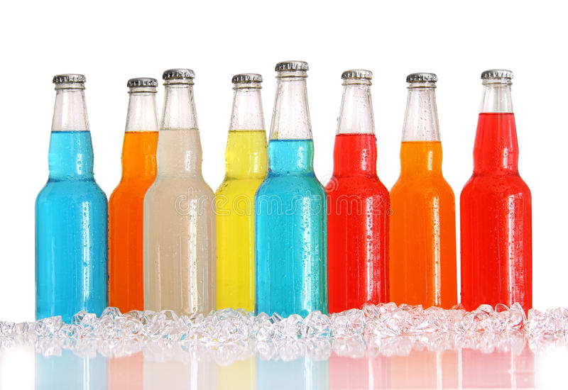 цвет бутылок выпивает белизну льда multi стоковые фото