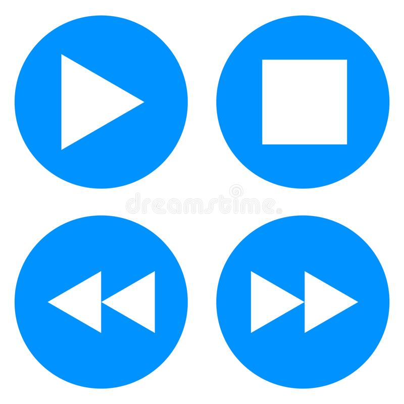 Цвет вектора кнопок музыки значка бесплатная иллюстрация