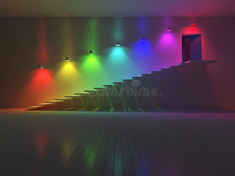 цвет внутренн-спектра 3d иллюстрация вектора