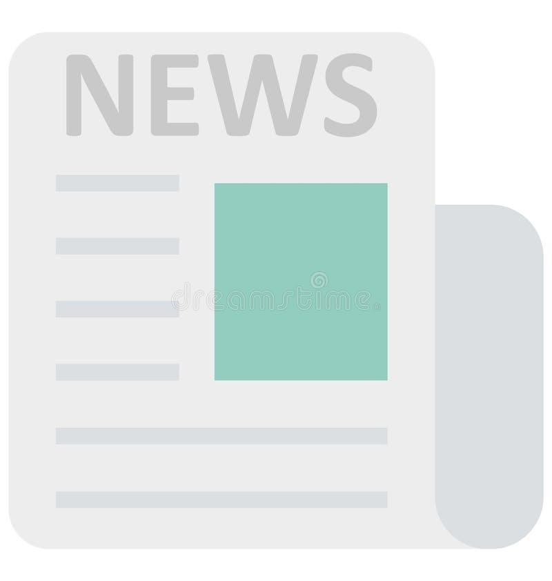 Цвет газеты изолировал значок вектора который может легко доработать или отредактировать иллюстрация штока