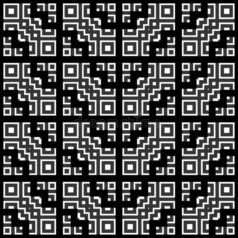 Цвет геометрической картины черно-белый иллюстрация штока