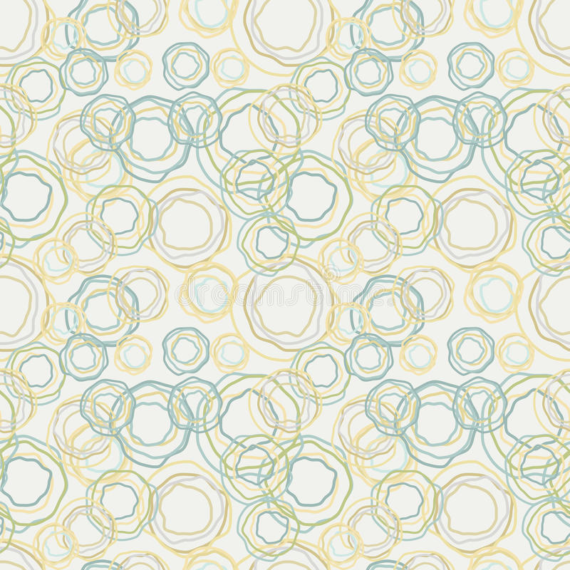 Цвет год сбора винограда изогнул картину кругов - безшовный ба бесплатная иллюстрация