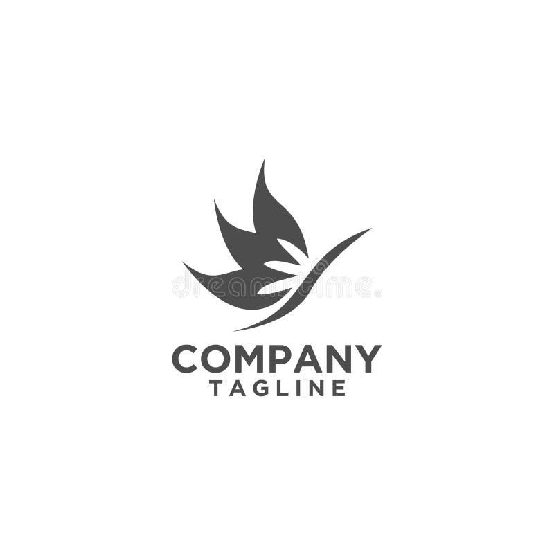 Цвет дизайна логотипа лист зеленый иллюстрация вектора