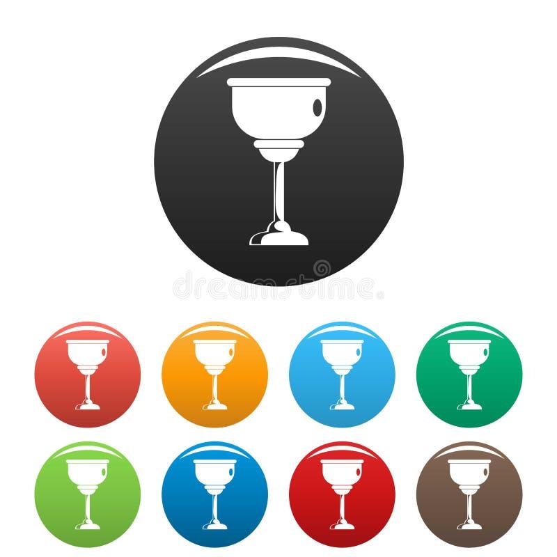 Цвет еврейских значков чашки установленный иллюстрация вектора