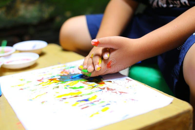 Цвет детей стоковая фотография rf