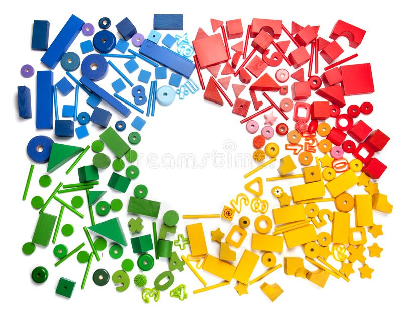 Цвет забавляется граница стоковая фотография