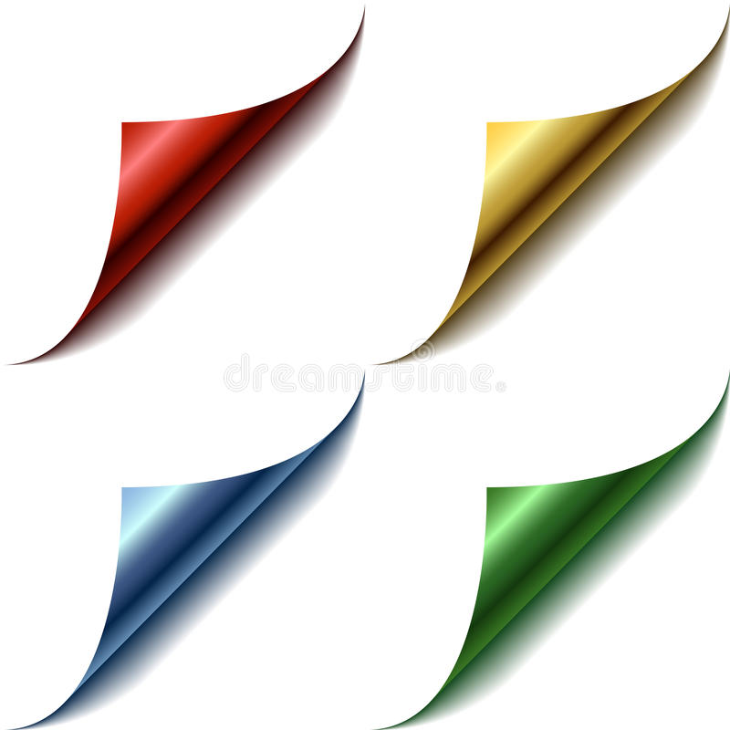 цвет загоняет страницу в угол 4 иллюстрация вектора