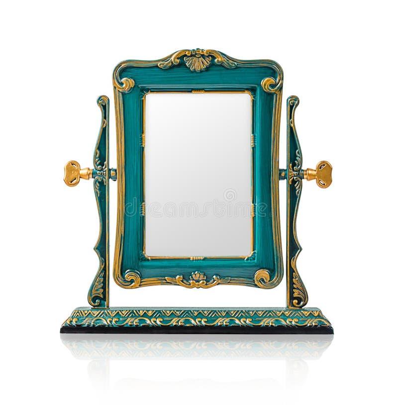 Цвет зеркала квадрата настольного компьютера cyan стоковая фотография rf