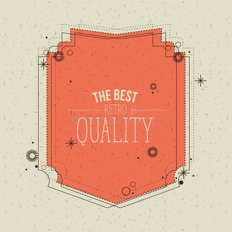Цвет искрится предпосылка с оранжевой декоративной рамкой самого лучшего качественного текста иллюстрация вектора