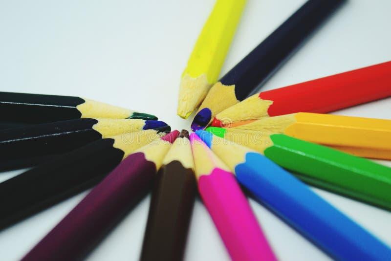 Цвет карандаша стоковые изображения