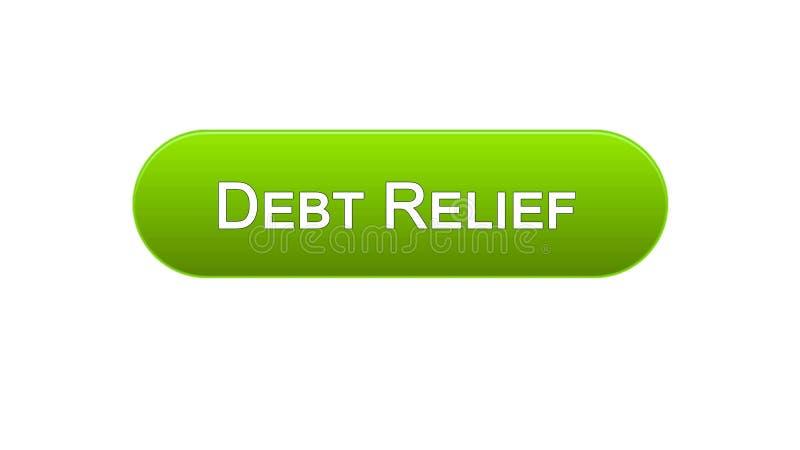 Цвет кнопки интерфейса сети помощи в покрытии долга зеленый, кредит консультируя, дело бесплатная иллюстрация