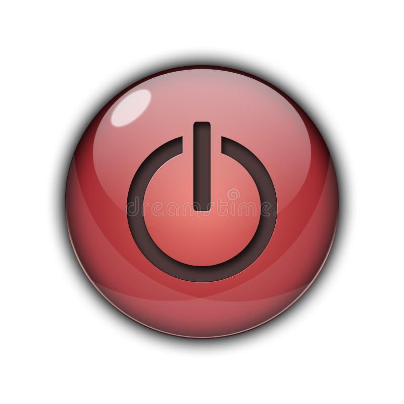 цвет кнопки старта силы 3D красный иллюстрация вектора