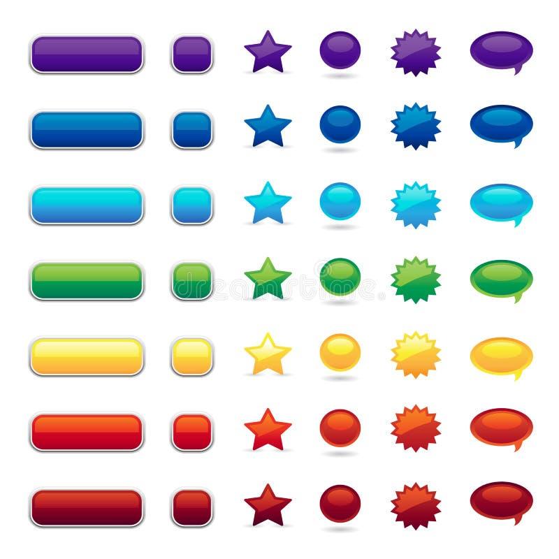 цвет кнопки иллюстрация вектора