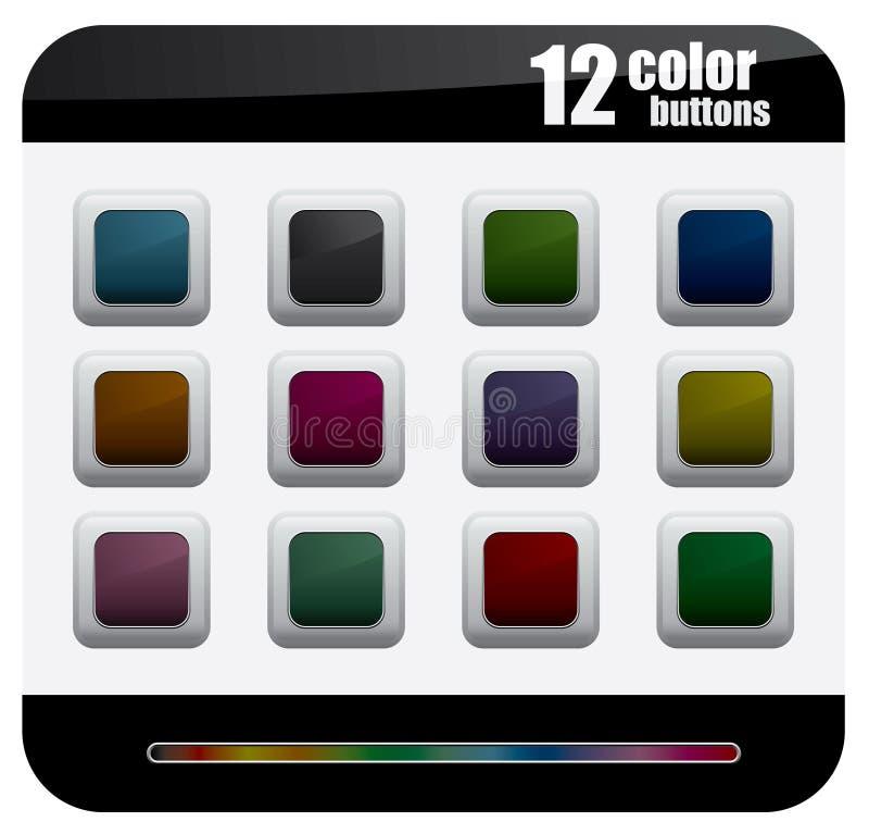 цвет кнопок бесплатная иллюстрация