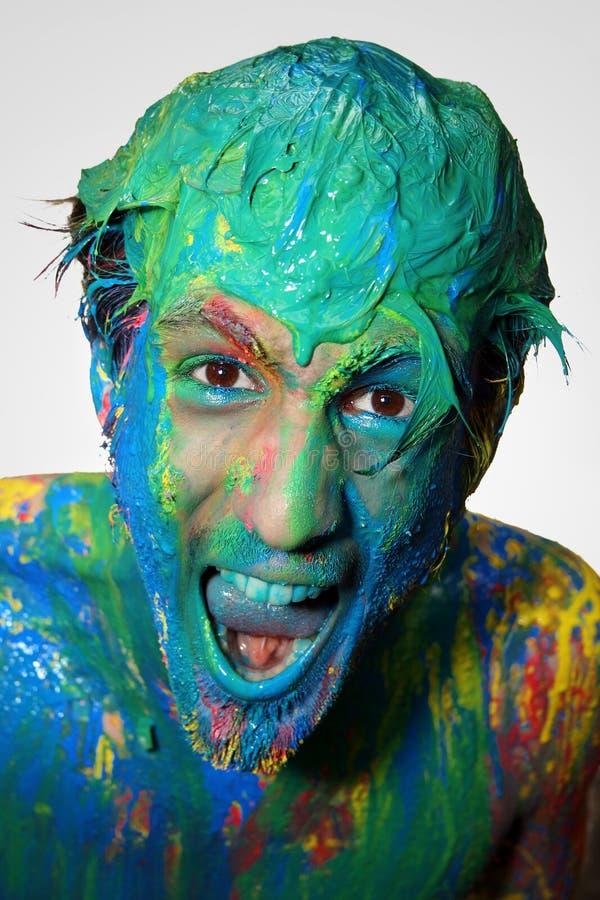 цвет мальчика стоковое фото rf