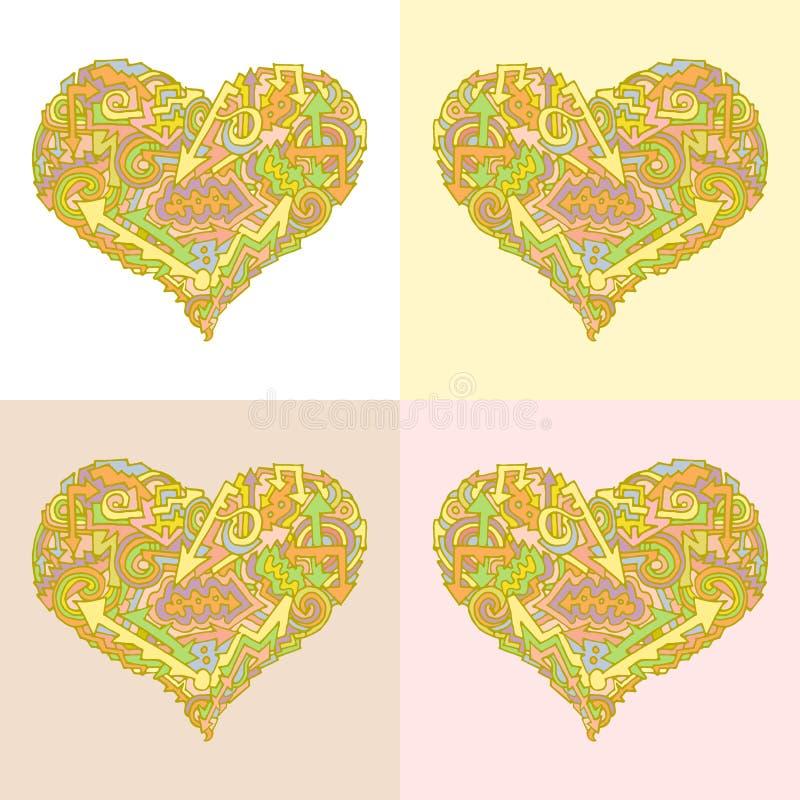Цвет направления wave1 стрелки валентинки бесплатная иллюстрация