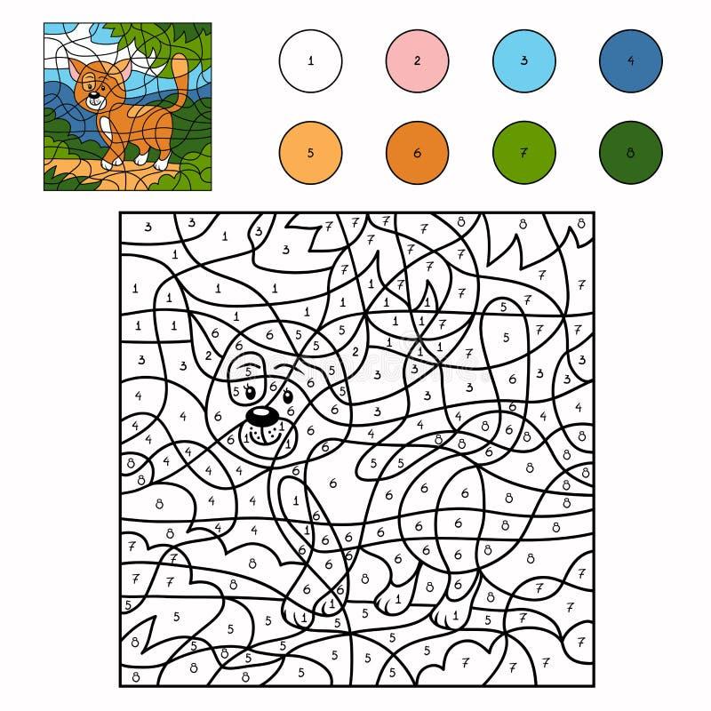 Цвет номером (кот) иллюстрация штока