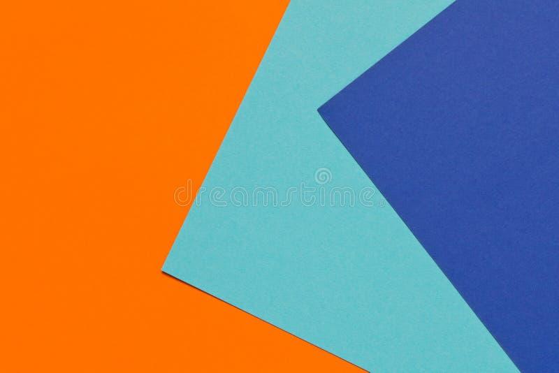 Цвет отклоняет предпосылка Оранжевая голубая абстрактная геометрическая предпосылка стоковая фотография