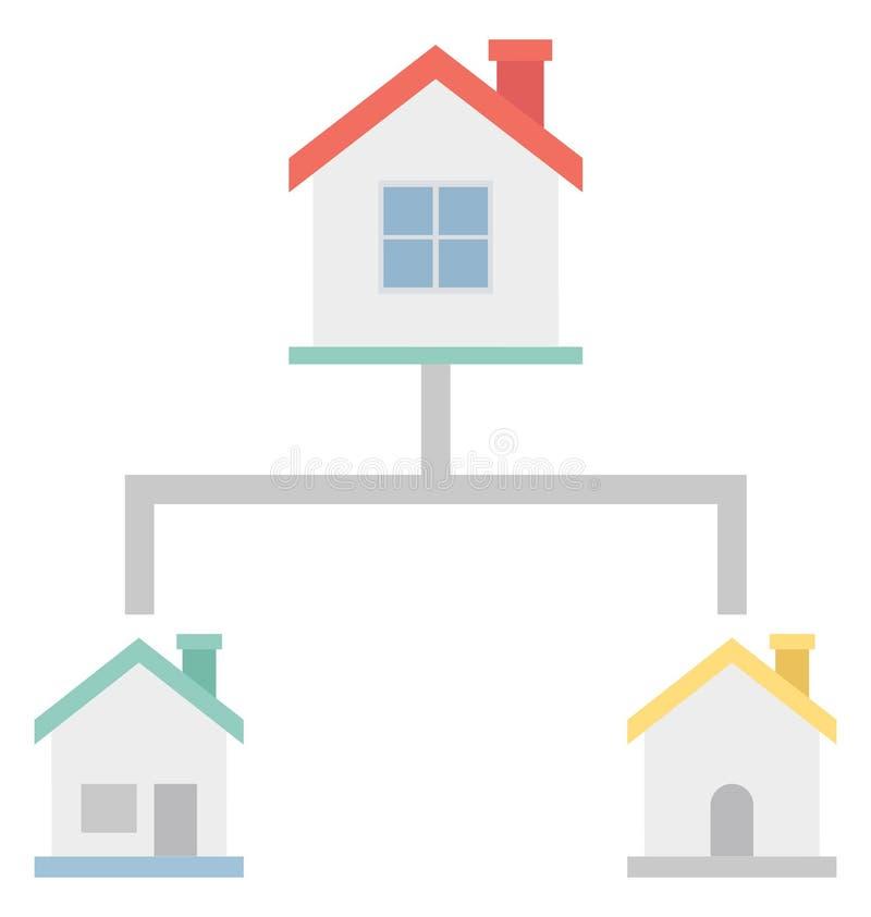 Цвет плана проекта изолировал значок вектора который может легко доработать или отредактировать иллюстрация вектора