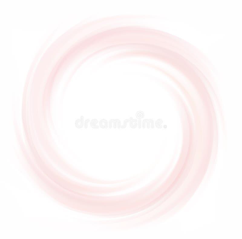 Цвет предпосылки спирали вектора конспекта малиновый иллюстрация штока