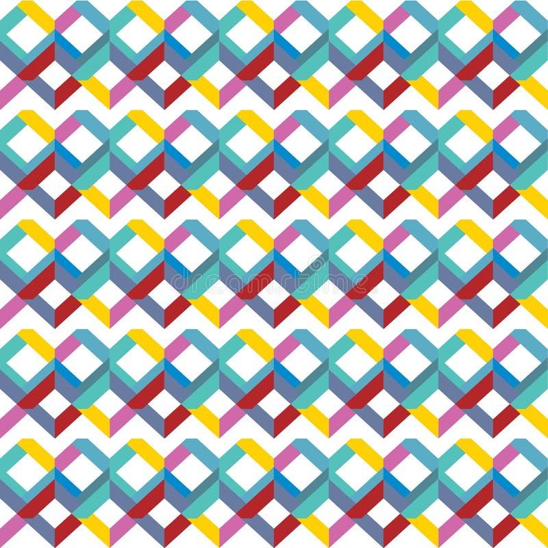Цвет радуги предпосылки абстрактной безшовной картины яркий покрашенный геометрический также вектор иллюстрации притяжки corel иллюстрация штока