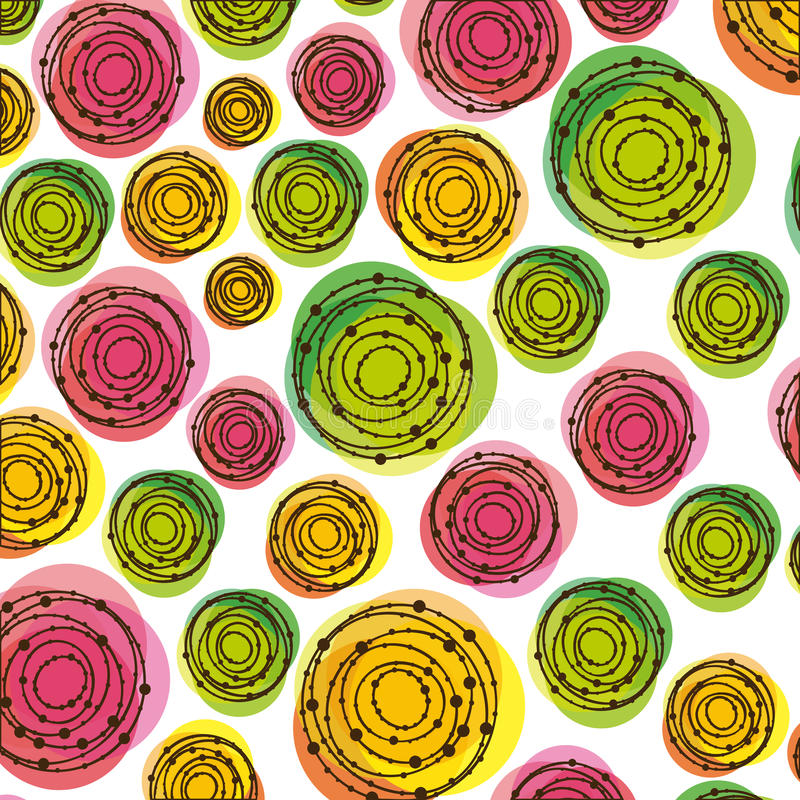 цвет резюмирует значок предпосылки пузырей иллюстрация вектора