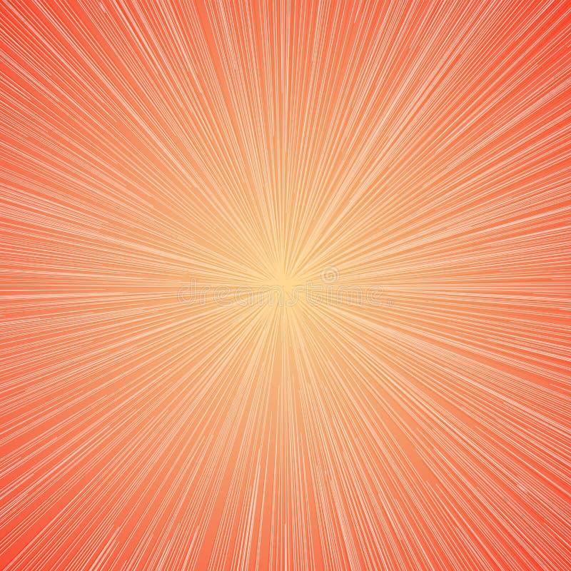 Цвет светлой предпосылки Sunburst современный на лето, украшение, график движения, иллюстрация штока