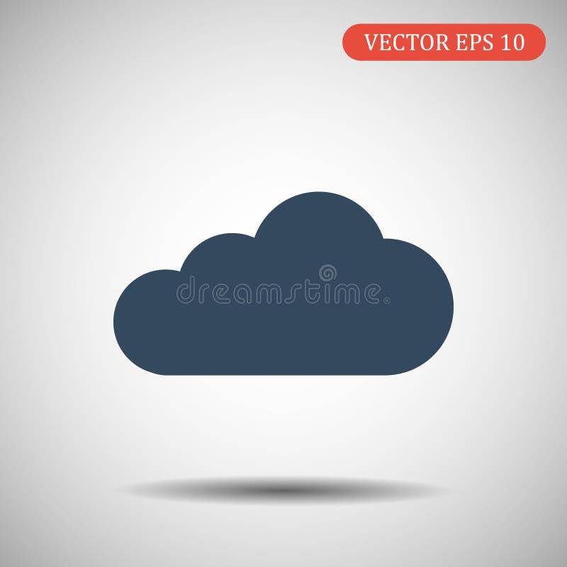 Цвет сини значка облака вектор экрана иллюстрации 10 eps стоковое фото