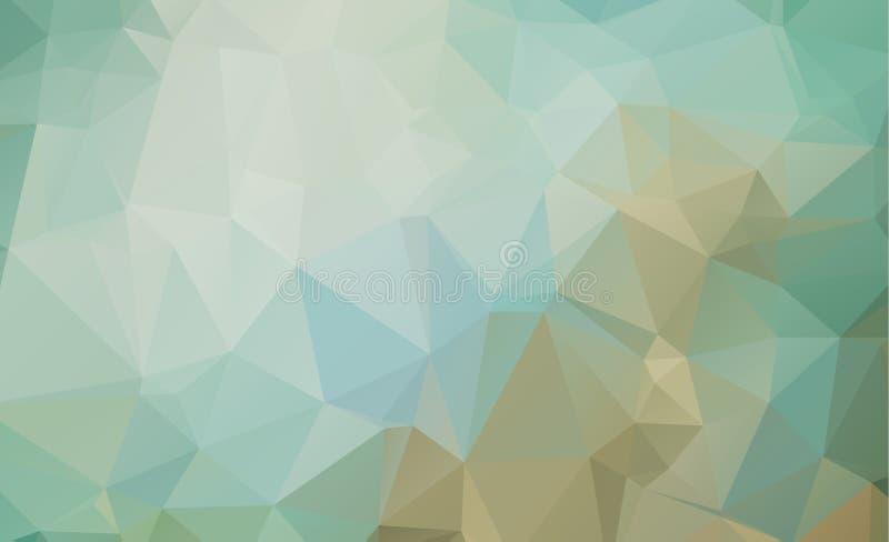 Цвет сини треугольников предпосылки конспекта Olygonal состоя из бесплатная иллюстрация