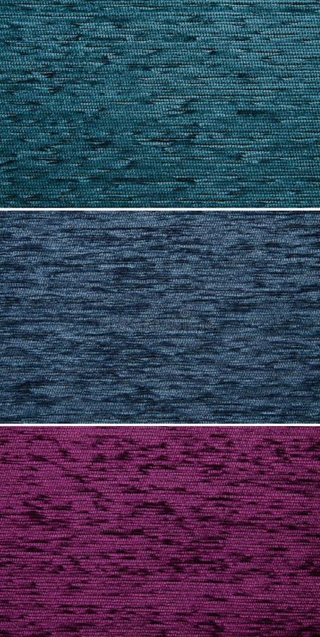 Цвет сини Kombin 08-C Ейль текстуры текстильной ткани стоковая фотография rf