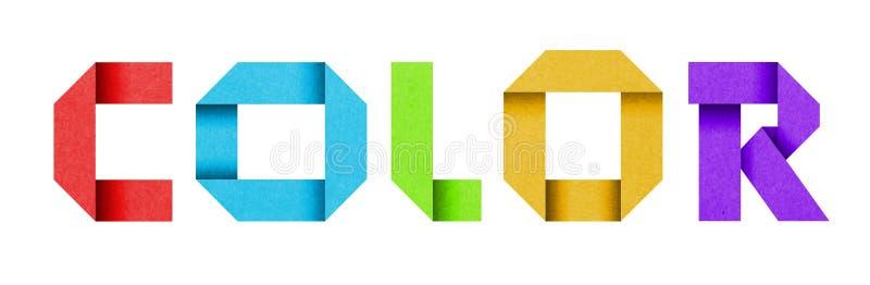 ЦВЕТ слова сделанный от алфавита покрашенной бумаги стоковое фото rf