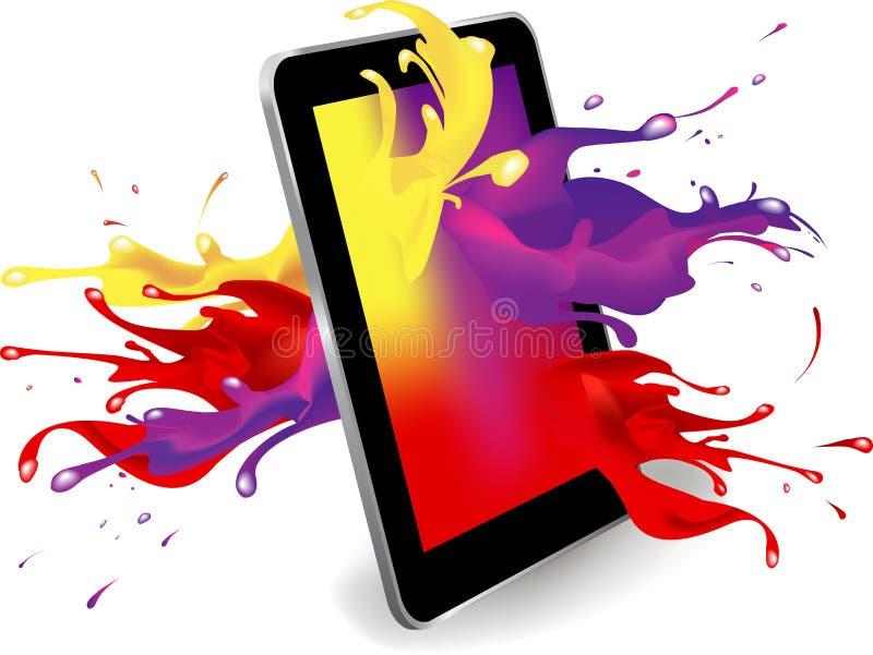 Цвет таблетки цифров бесплатная иллюстрация