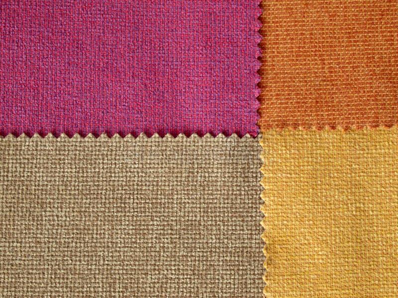 Цвет тона ткани образца горячий стоковая фотография rf