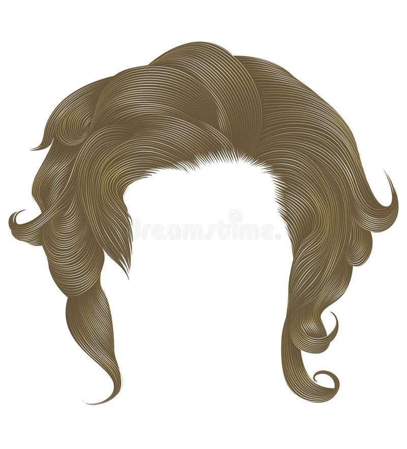 Цвет ультрамодных вьющиеся волосы женщины белокурый светлый средств длина E бесплатная иллюстрация