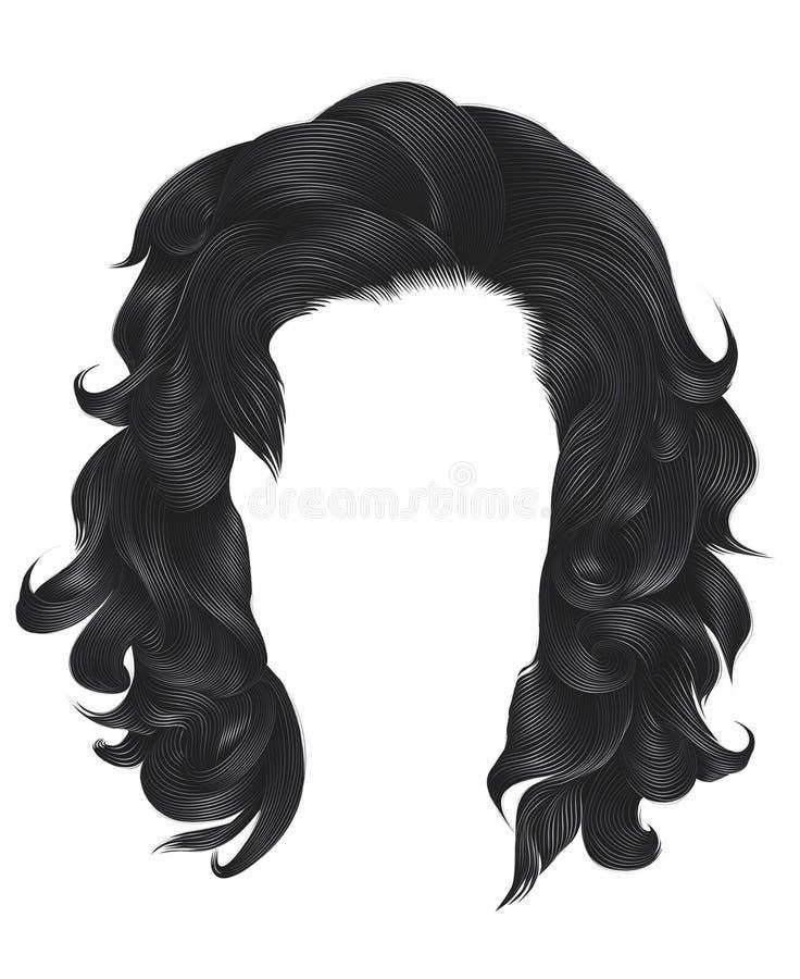 Цвет ультрамодных вьющиеся волосы женщины белокурый серый средств длина залива бесплатная иллюстрация