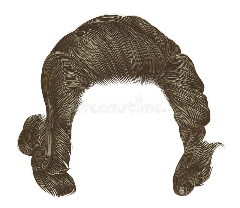 Цвет ультрамодных вьющиеся волосы женщины белокурый средств длина Красота s иллюстрация вектора