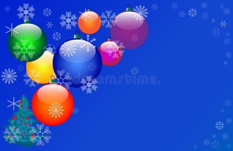 цвет 7 рождества шариков иллюстрация штока