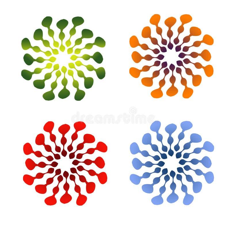 Цвет Abstrak круга полный бесплатная иллюстрация