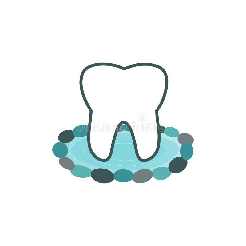 Цвет aqua логотипа камня воды зуба стоковое изображение rf