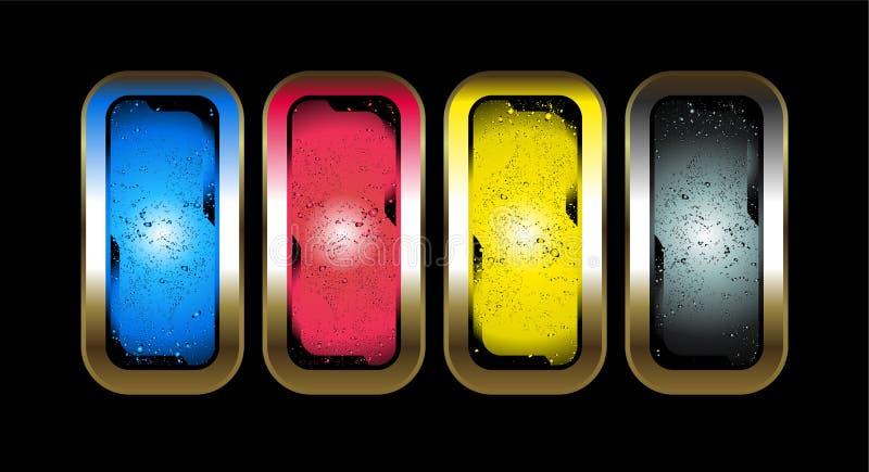 Download цвет cmyk иллюстрация вектора. иллюстрации насчитывающей backhoe - 6863089