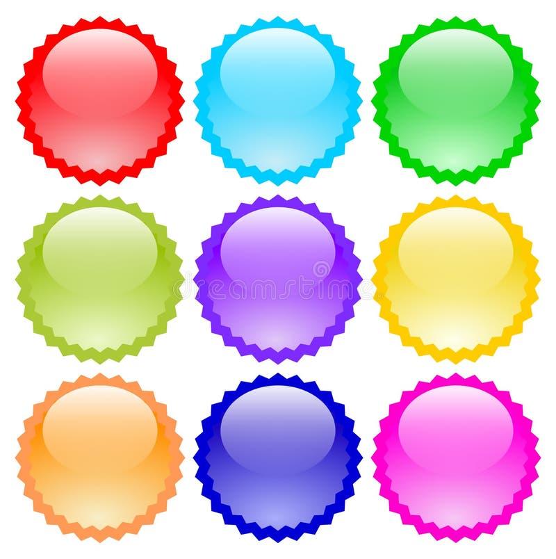 Цвет eps значков вектора кнопок иллюстрация вектора